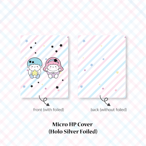 Planner Cover : Cutie Patootie // Twins Boy & Girl (Holo Silver Foiled)