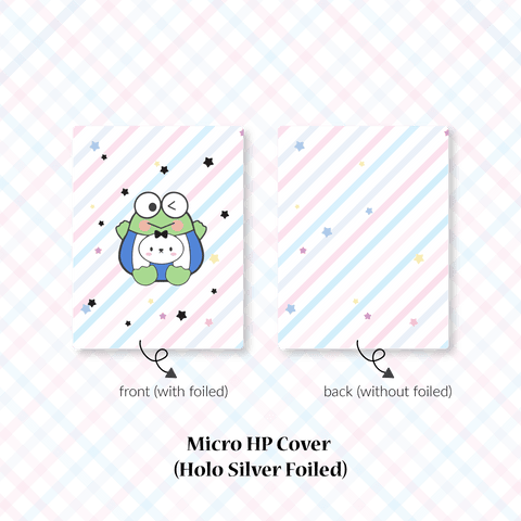 Planner Cover : Cutie Patootie // Frog (Holo Silver Foiled)