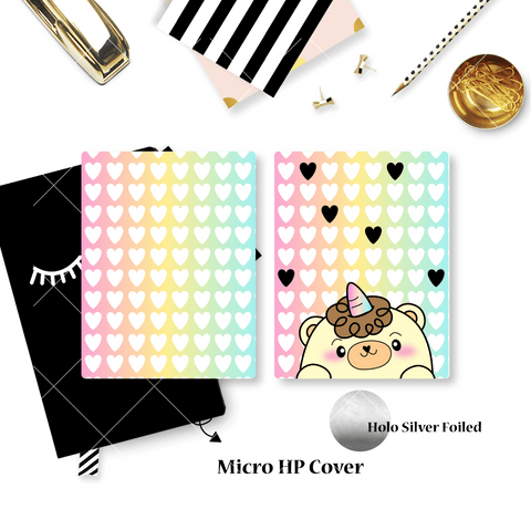 Planner Cover :  Beariecorn (Holo Silver Foiled)