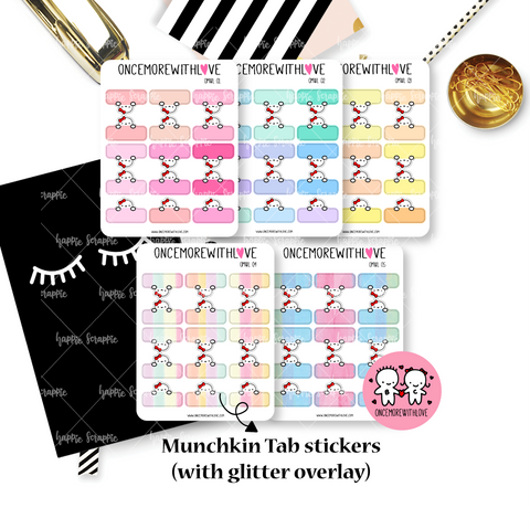 Planner Stickers : OnceMoreWithLove Collabs - Pastel Tabs