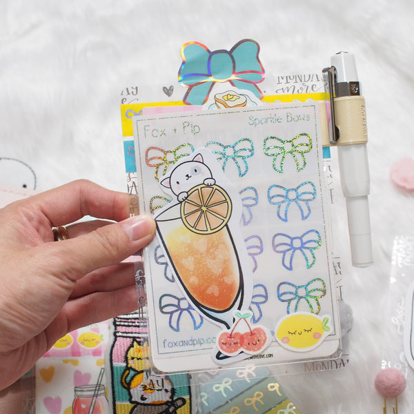 Acetate : Silver Foiled Lemon - Summer Fun (Set of 4) // Collab with Sea Amy Draw