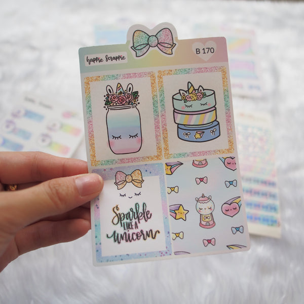 Planner Stickers : Magical Wishes - Sticker Add-On Kit (B169-B174)