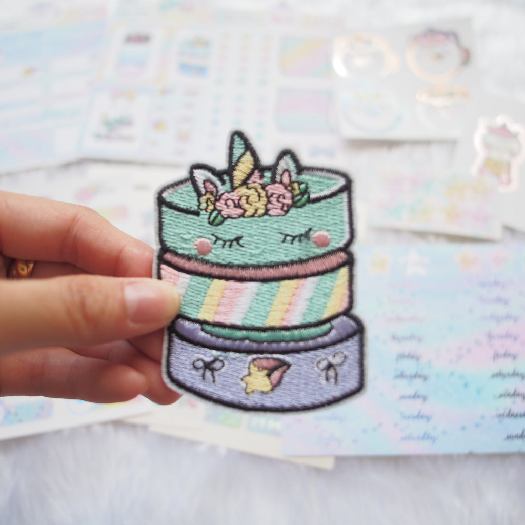 Fabric Patch : Magical Wishes / Unicorn Washi Stack