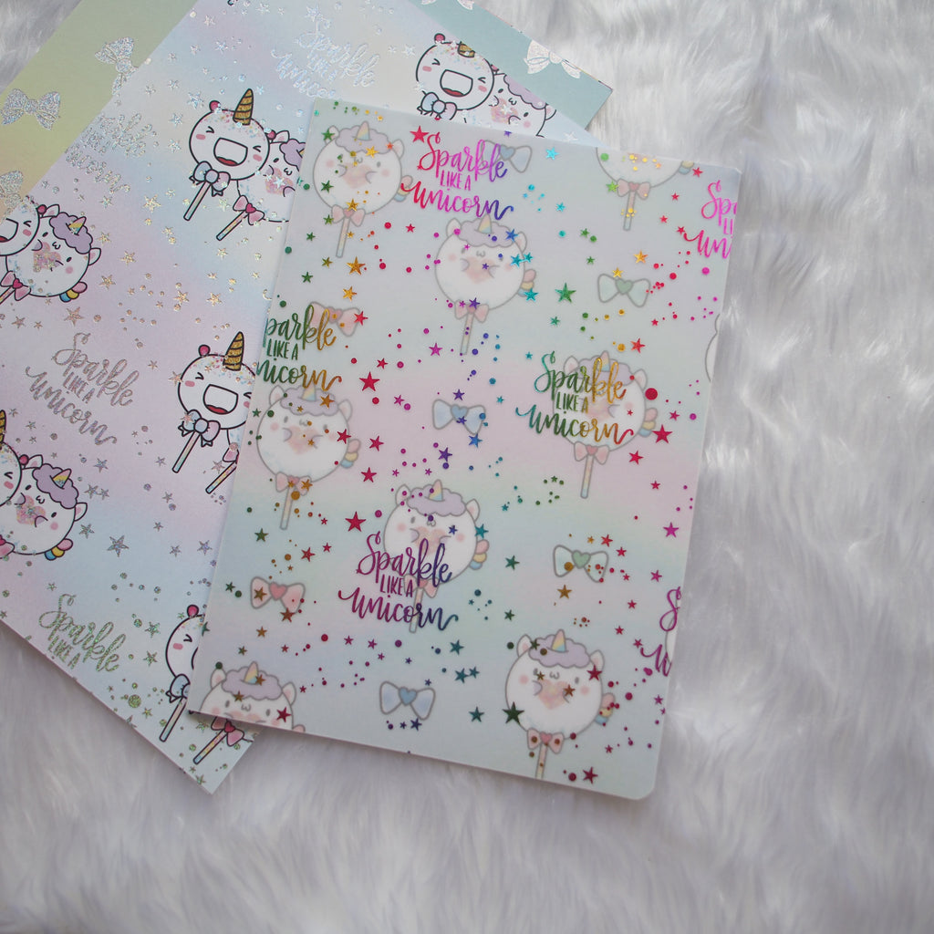 Travel Notebook (All Sizes) - Magical Wishes (Unicorn) // Collabs with Annie Plans Printables