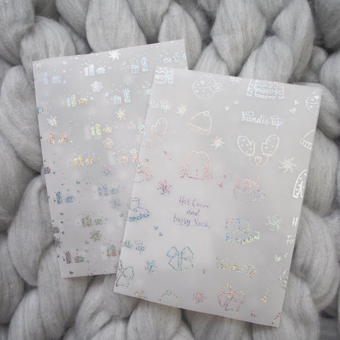 Vellum : Holo Glitter Foiled Bundle Up / Winter (Set of 2)
