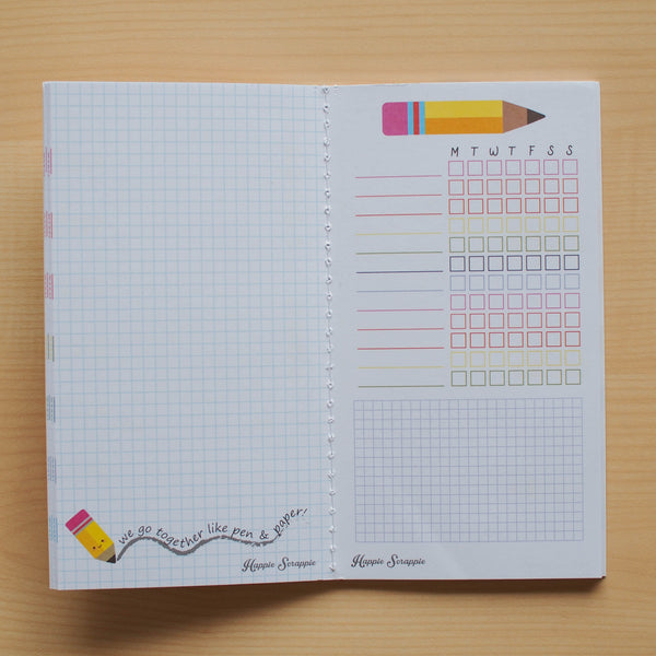 Inserts: Fauxdori (Personal Sized) Stationery Addict Planner Inserts