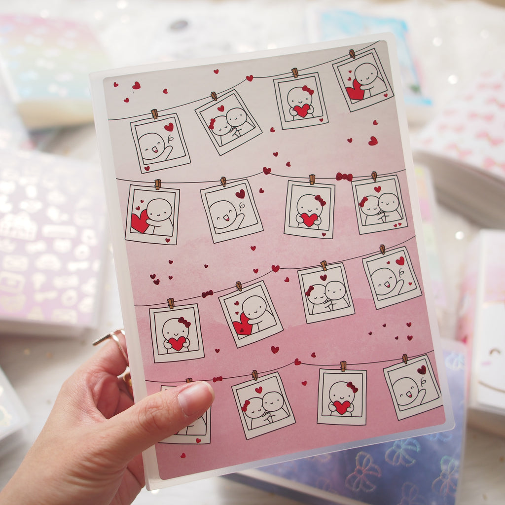 Sticker Album : Jumbo Sized Sticker Albums // J008 - Once More With Love Collab (LOVE Polaroid)