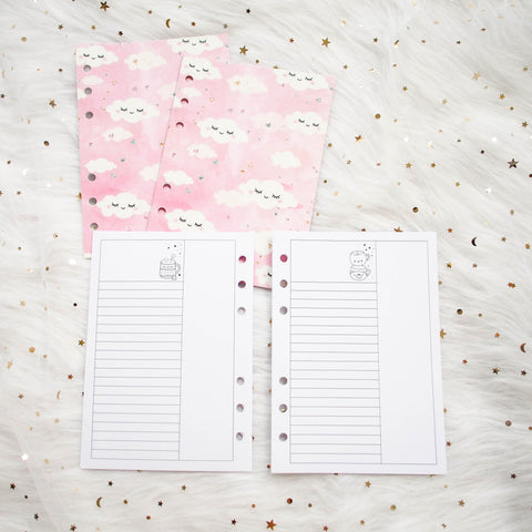 Disc / Rings Planner Inserts - Hug In A Mug // List (Annie Plans Collab)
