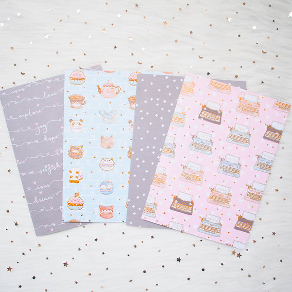 Pattern Papers : Holo Gold Foiled // You Are Just My Type (Set of 4)