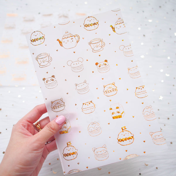 Vellum : Holo Gold Foiled // You Are Just My Type  (Set of 2)