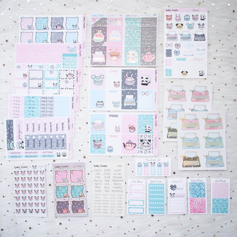 Sticker Kit - You Are Just My Type (Set of 9 Sheets) - Holo Silver & Rose Gold Foiled