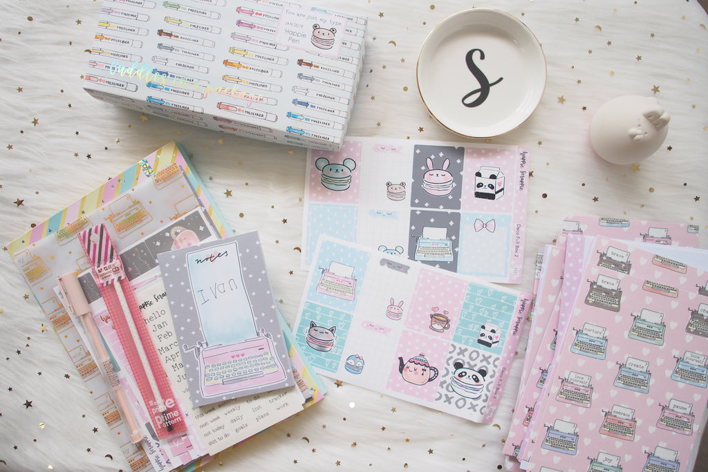 Happie Planner Kit : You Are Just My Type // JANUARY 2019