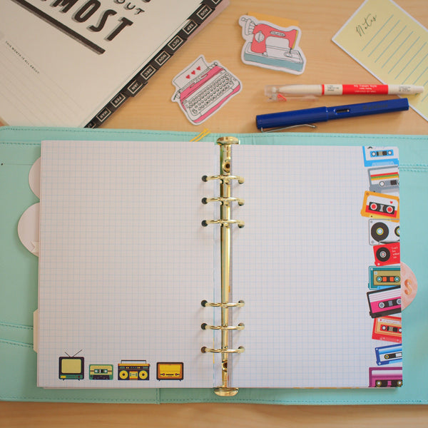 Inserts: A5 Sized Retro Chic / Typewriter Themed  Planner Inserts