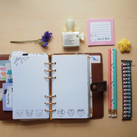 Inserts: Personal Sized Sugar Skull Themed Planner Inserts