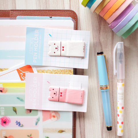 Stationery : Bear Pen Holder / Pen Loop