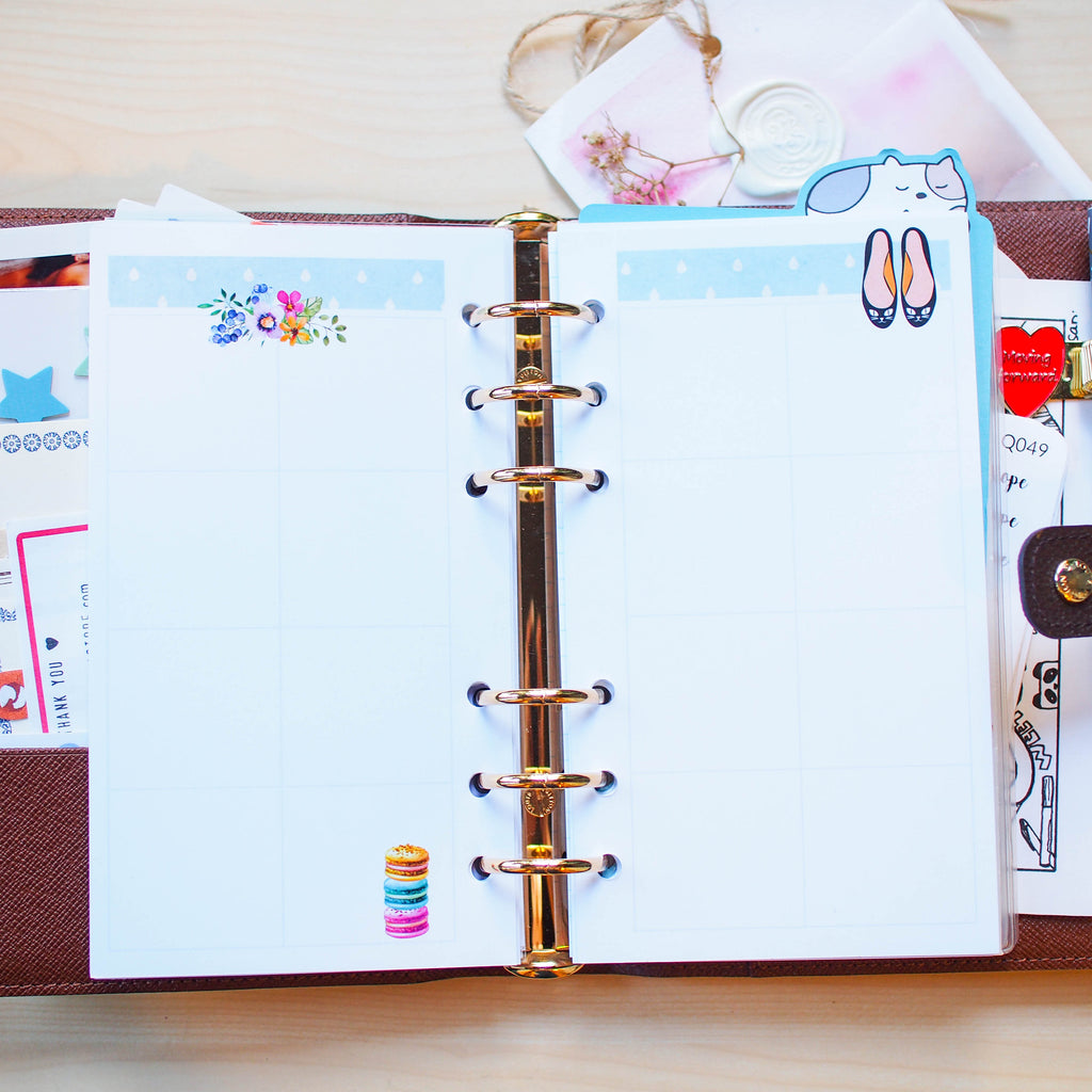Personal (Rings) Planner Inserts - Wanderlust (Boxes)