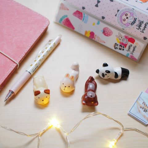 Pen Pillow : Cutie Animals  (Set of 4)