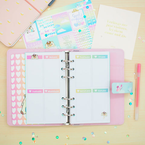 Personal (Rings) Planner Inserts - Beariecorn (Vertical Weekly)
