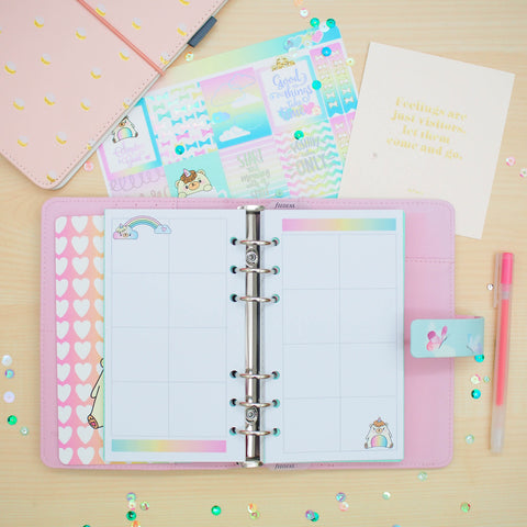 Personal (Rings) Planner Inserts - Beariecorn (Boxes)