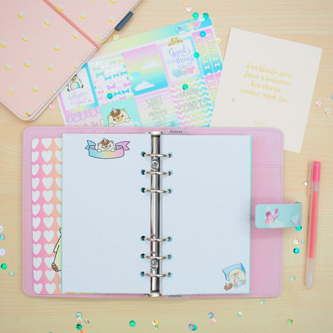 Personal (Rings) Planner Inserts - Beariecorn (Dotted)