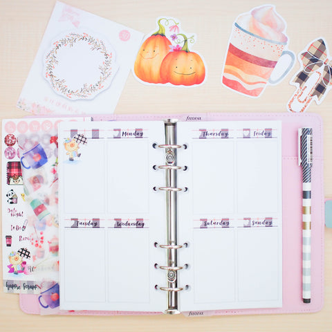 Personal (Rings) Planner Inserts - Fall In Love (Vertical Weekly)