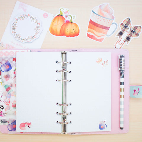 Personal (Rings) Planner Inserts - Fall In Love (Dotted)