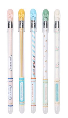 Pens : M&G Erasable Gel Pens (Pastel Bows)