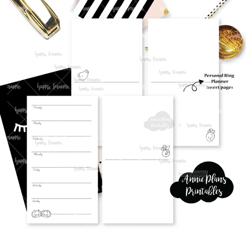 Rings Planner Inserts - Farmers Market // Weekly // Collabs with Annie Plans Printables