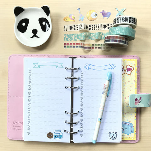 Inserts: Personal Sized Planner Inserts - Breakfast Love