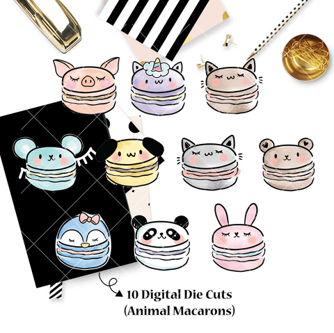 DIGITAL DOWNLOAD! - No Physical Product : You Are Just My Type Themed/ Animal Macarons