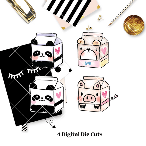 DIGITAL DOWNLOAD! - No Physical Product : You Are Just My Type Themed/ GLITTERED Animal Milk