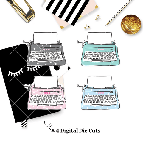 DIGITAL DOWNLOAD! - No Physical Product : You Are Just My Type Themed/ Typewriter