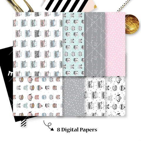 DIGITAL PAPERS - No Physical Product : You Are Just My Type Themed Digital Papers