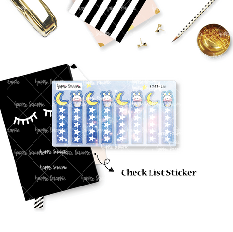 Planner Stickers : Constellation - Check List (B241)