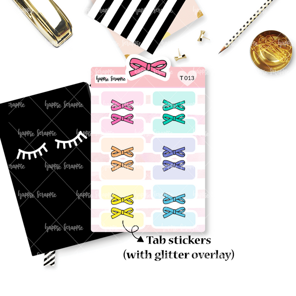 Tab Stickers : Alice Bows (Pastel & Bright)