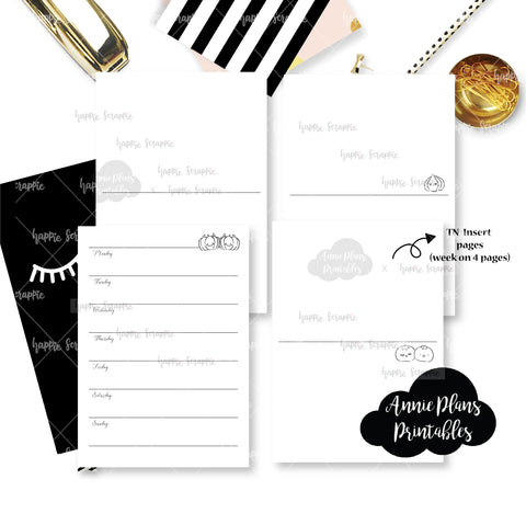 Travel Notebook (All Sizes) - Farmers Market // Collabs with Annie Plans Printables