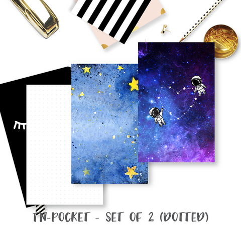 Travel Notebook Inserts (TN-Pocket) - Galaxy (Dotted - Set of 2) [TPO-010]