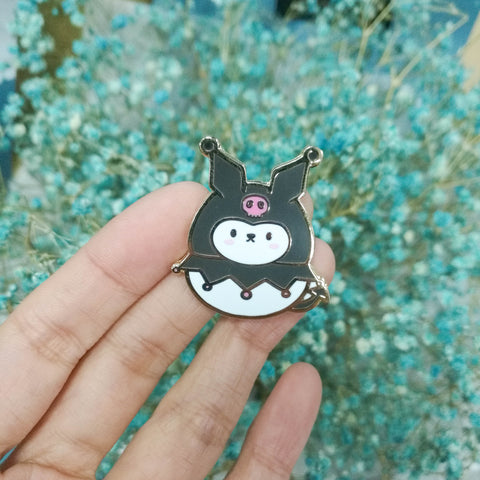 Pins : Cutie Patootie // Evil Cat //  Magnetic Backing