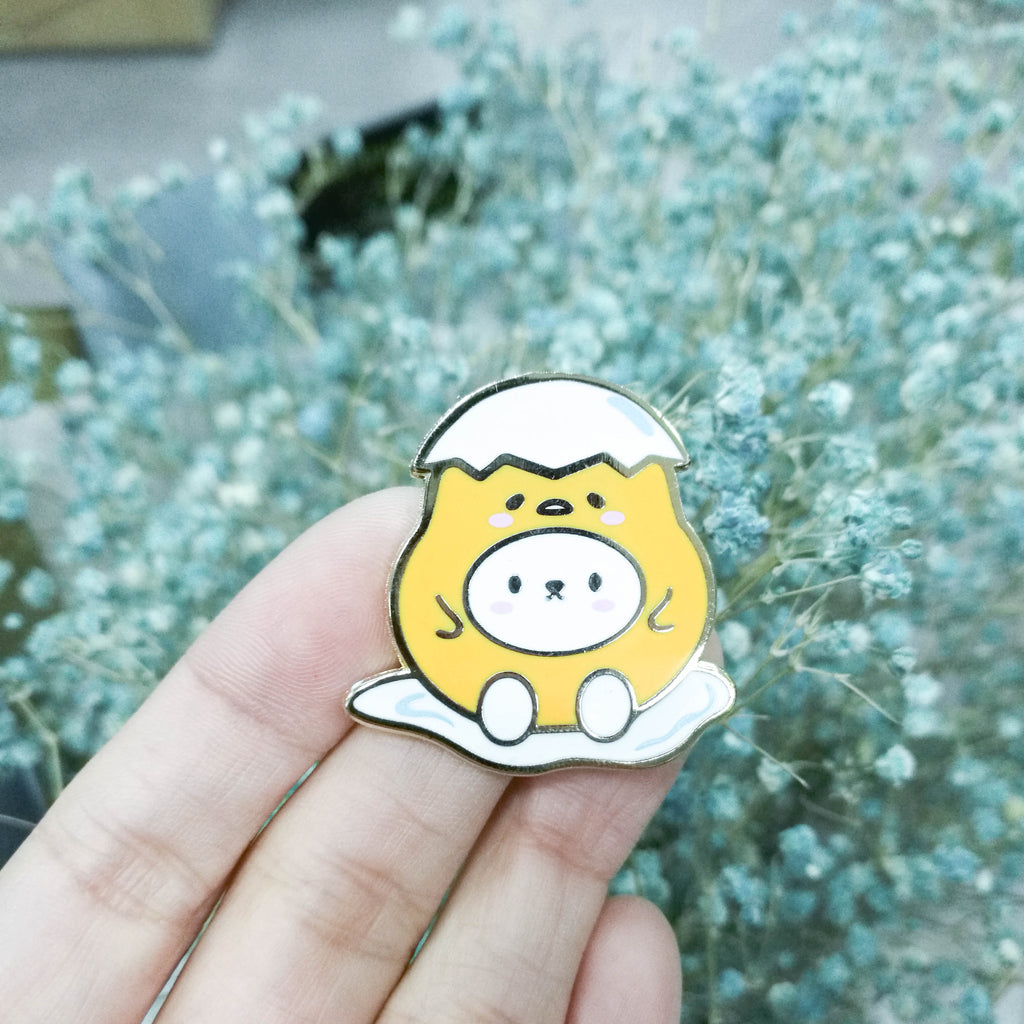 Pins : Cutie Patootie // Lazy Egg //  Magnetic Backing