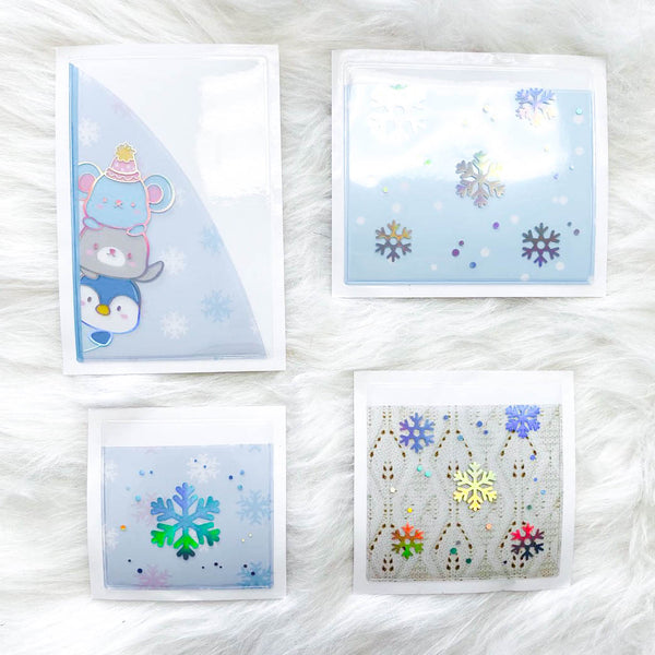 Stickie Pockets : Cozy Winter //Holo Silver Foil (Set of 4)