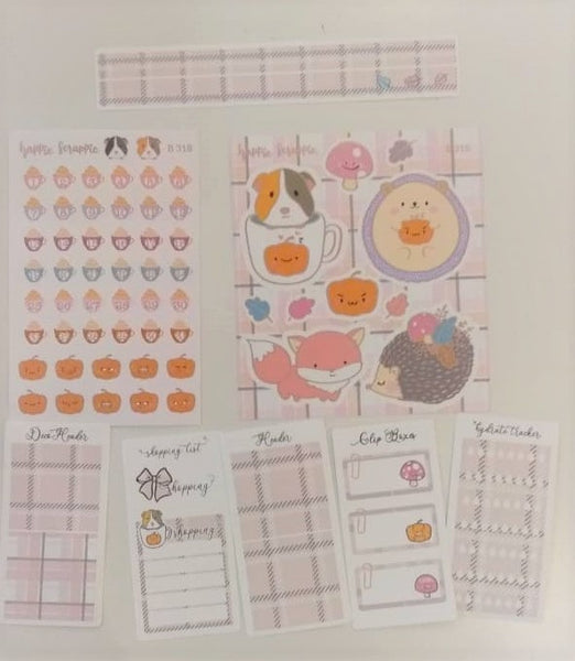 Sticker Kit - Warm & Fuzzy (Set of 9 Sheets) - Foiled Stickers