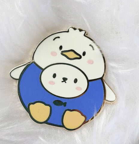 Pins : Cutie Patootie // Blue Shirt Duck //  Magnetic Backing