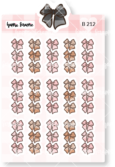 Planner Stickers : Sweater Weather - Mini Plaid Bow Check List (B212)