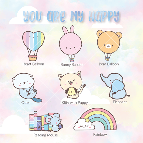 Die Cuts : You Are My Happy Rainbow