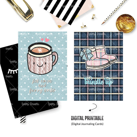 DIGITAL DASHBOARD - No Physical Product : Bundle Up / Winter (A6 sized)