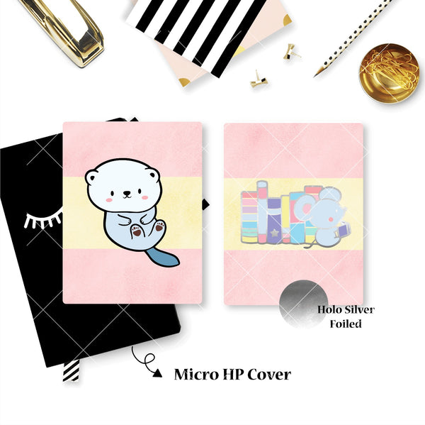 Planner Cover : Reading Mouse (Holo Silver Foiled)
