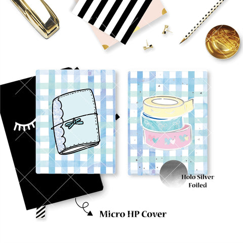 Planner Cover : Washi Stacks and Pelle Planner  (Holo Silver Foiled)
