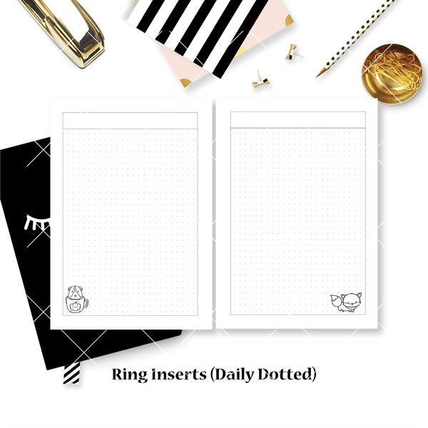 Disc / Rings Planner Inserts - Warm & Fuzzy // Daily (Annie Plans Collab)