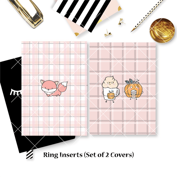 Disc / Rings Planner Inserts - Warm & Fuzzy // Dotted