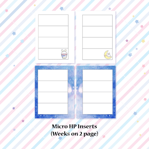Micro HP Inserts - Galaxy Weeks Horizontal Layout // Collabs with Annie Plans Printables